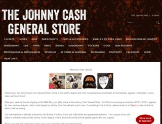 johnnycashstore.com screenshot