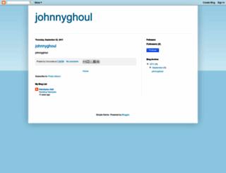 johnnyghoul.blogspot.com screenshot