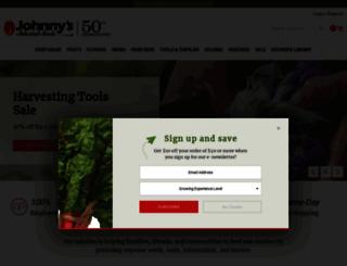 johnnyseeds.com screenshot