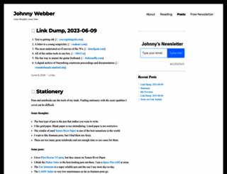 johnnywebber.com screenshot