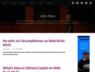 johnpapa.net screenshot