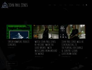 johnpauljones.com screenshot