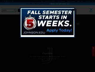 johnson.edu screenshot
