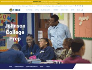 johnsoncollegeprep.noblenetwork.org screenshot