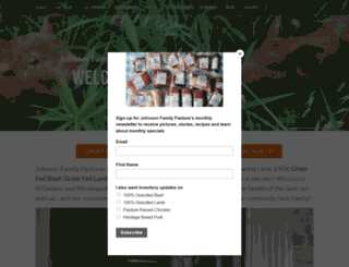 johnsonfamilypastures.org screenshot