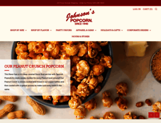 johnsonspopcorn.com screenshot