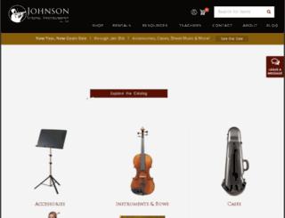 johnsonstrings.com screenshot
