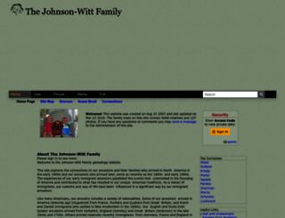 johnsonwitt.tribalpages.com screenshot