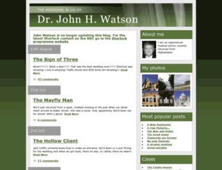 johnwatsonblog.co.uk screenshot