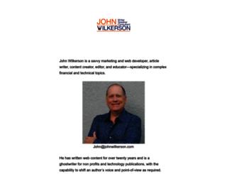 johnwilkerson.com screenshot
