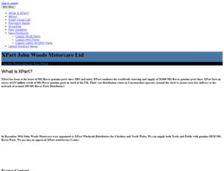 johnwoodsmotorcare.net screenshot