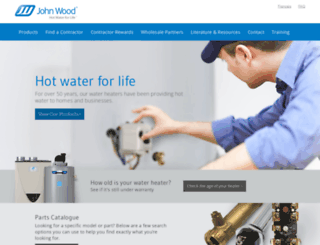 johnwoodwaterheaters.com screenshot