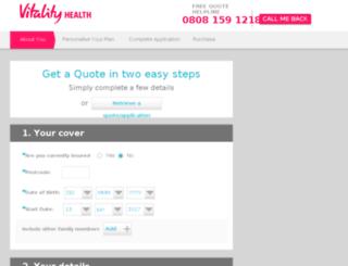 join.pruhealth.co.uk screenshot