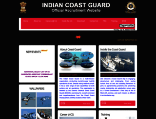 joinindiancoastguard.gov.in screenshot