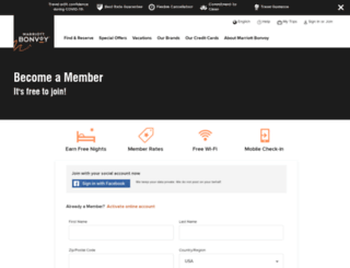 joinmarriottrewards.com screenshot