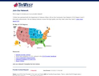 joinournetwork.triwest.com screenshot