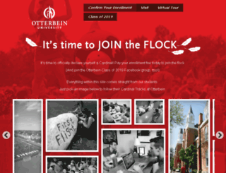 jointheflock.otterbein.edu screenshot