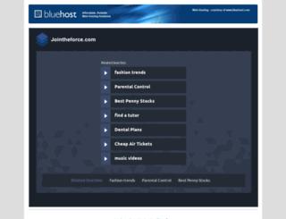 jointheforce.com screenshot