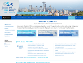 jointmathematicsmeetings.org screenshot