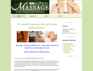 jojobamassage.com.au screenshot
