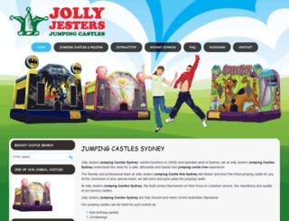 jollyjestersjumpingcastles.com.au screenshot