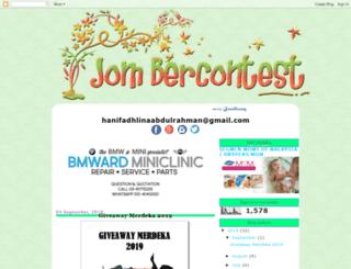 jombercontest.blogspot.my screenshot
