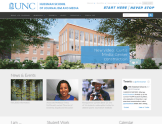 jomc.unc.edu screenshot