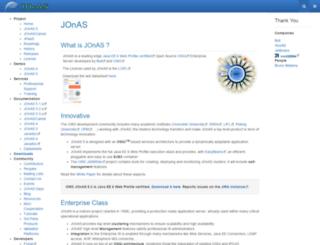 jonas.ow2.org screenshot