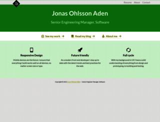 jonassebastianohlsson.com screenshot