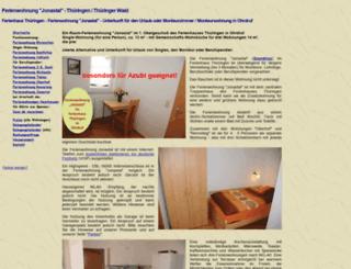 jonastal.ferienhaus-ohrdruf.de screenshot