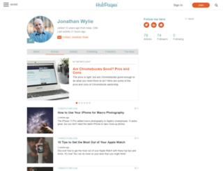 jonathanwylie.hubpages.com screenshot