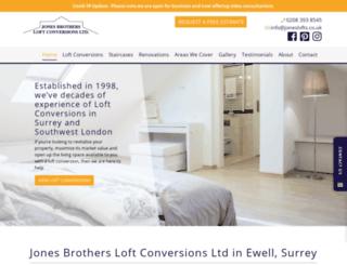 jonesbrothersloftconversions.co.uk screenshot