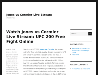 jonesvscormier.com screenshot