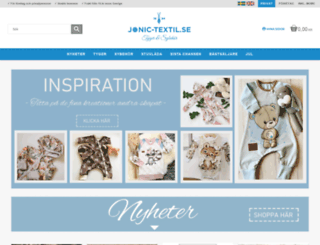 jonic-textil.se screenshot