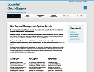 joomla-grundlagen.de screenshot