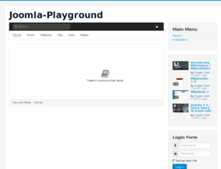 joomla-playground.com screenshot