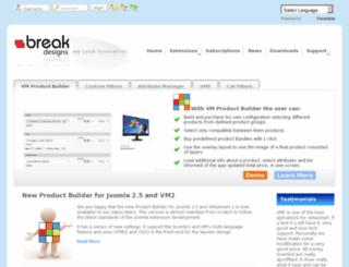 joomla.breakdesigns.net screenshot