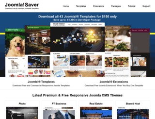 joomlasaver.com screenshot