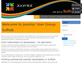 joomlasuffolk.co.uk screenshot