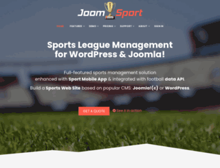 joomsport.com screenshot