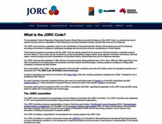 jorc.org screenshot