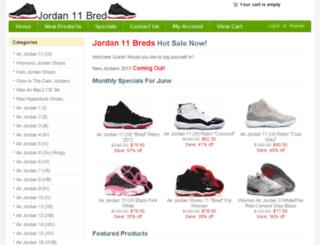 jordan11-breds.com screenshot
