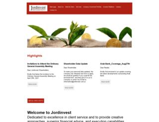 jordinvest.com.jo screenshot