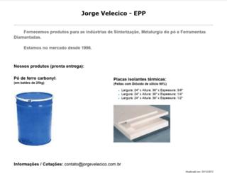jorgevelecico.com.br screenshot