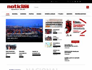 jornalnoticias.co.mz screenshot