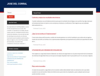 josedelcorral.es screenshot