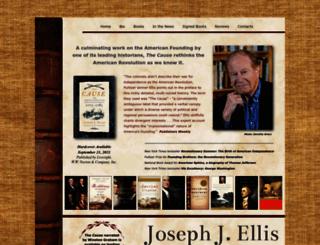 josephellishistorian.com screenshot