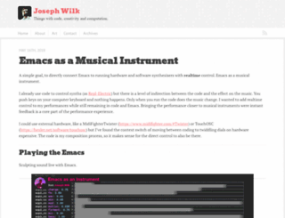 josephwilk.net screenshot