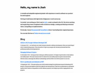 joshhornby.co.uk screenshot