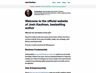 joshkaufman.net screenshot